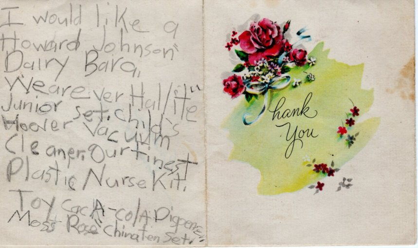 1956 Christmas Letter B