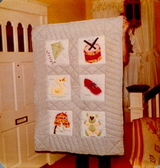 Quilt made for Nathan Behary- March, 1977